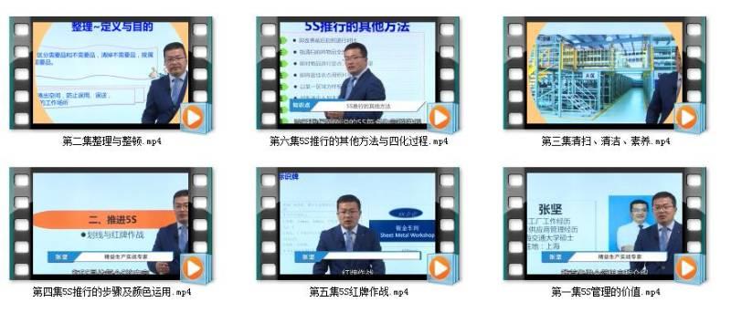 视频 工厂品质管理之5S管理(6集)