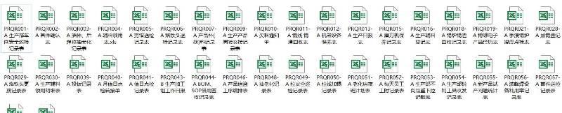VIP.四阶文件|生产部四阶文件清单与表单