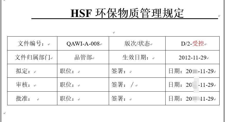 资料.三阶文件-HSF环保物质管理规定