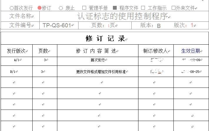 资料.二阶文件-认证标志的使用控制程序