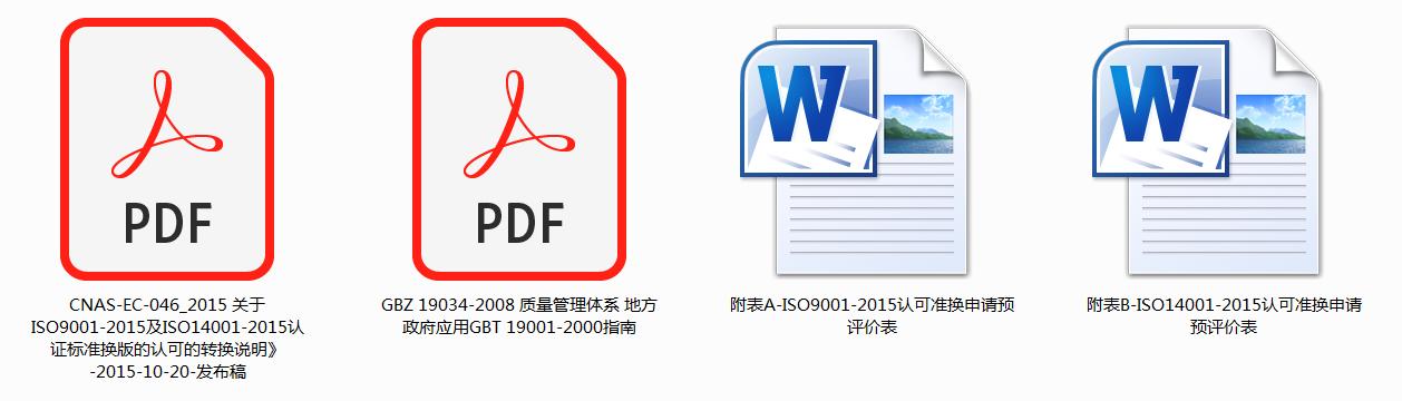 关于ISO9001-2015及ISO14001-2015认证标准换版的认可的转换说明