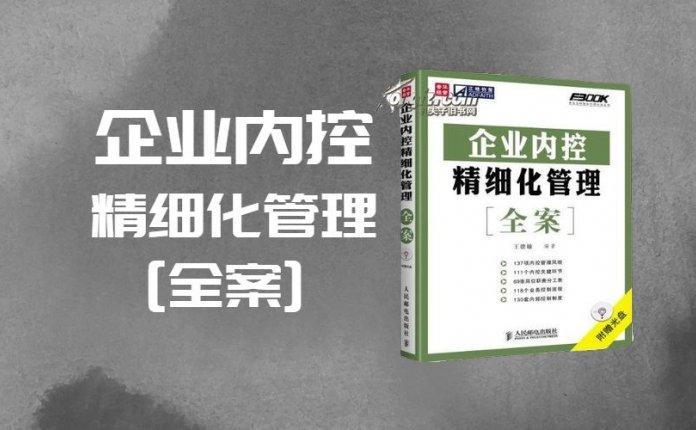 pdf+doc档弗布克精细化管理全案系列-企业内控精细化管理全案