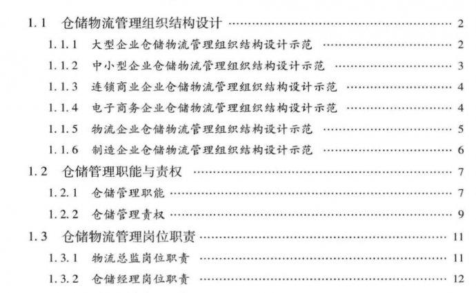 PDF|仓储物流管理组织与岗位职责设计