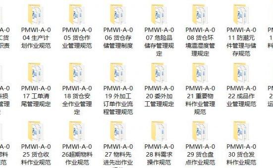 三阶文件 PMC全套文件