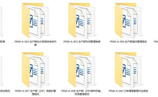 三阶文件 生产部全套文件